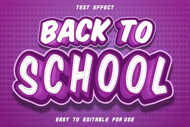 Back to school editable text effect