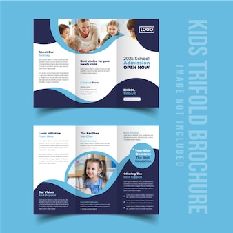 Back to school education admission trifold brochure design