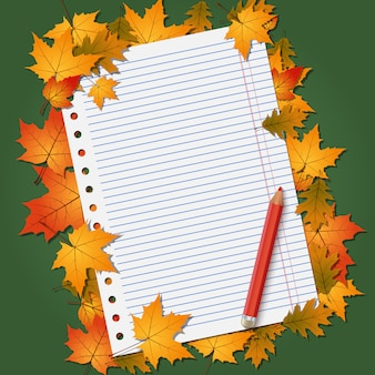 Back to school, education autumn style background
