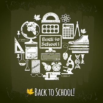 Back to school elements background