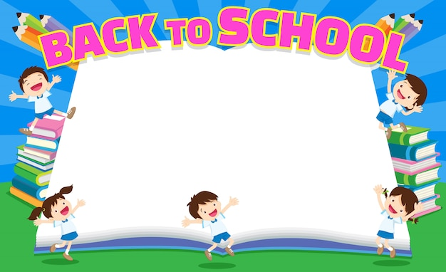 Back to school empty book