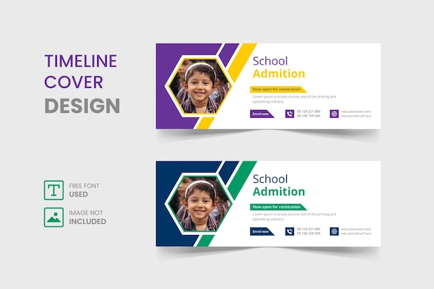 Back to school facebook cover template design