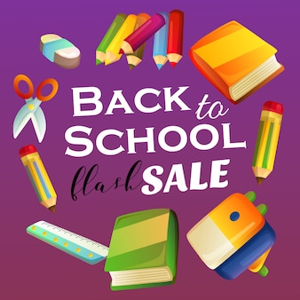 Back to school flash sale vivid color with stationary