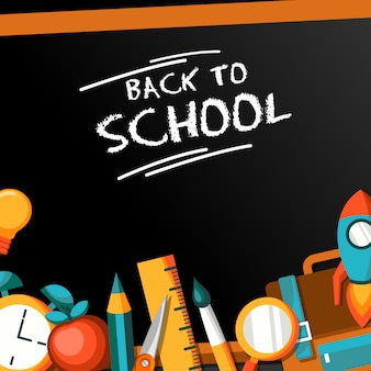 Back to school flat design illustration