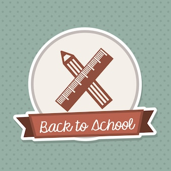 Back to school frame over vintage background