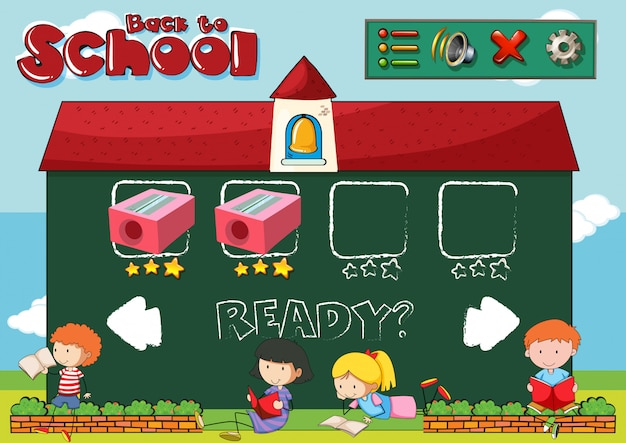 Back to school game template