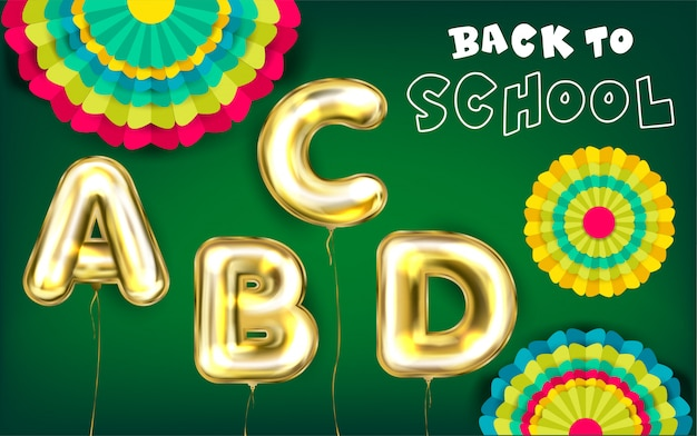 Back to school green poster