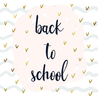 Back to school. hand drawn lettering and doodle elements for design card, school poster, childish t shirt, autumn banner, scrapbook, album, school wallpaper etc