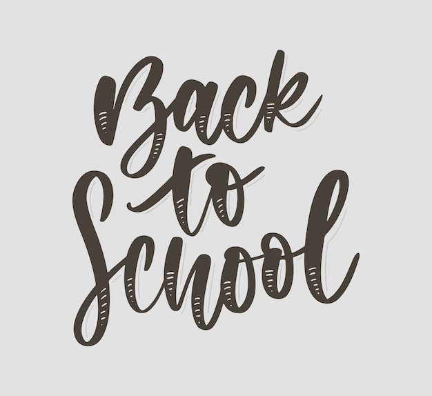Back to school hand drawn lettering