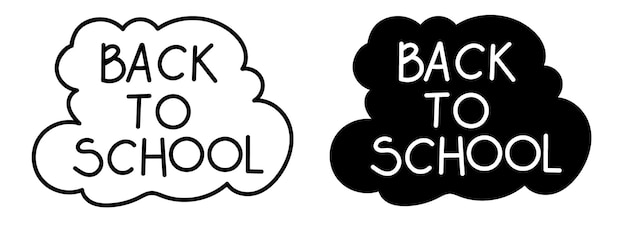 Back to school hand lettering composition
