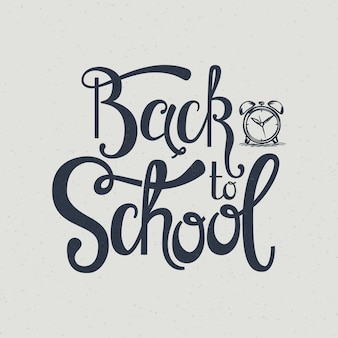 Back to school hand lettering.