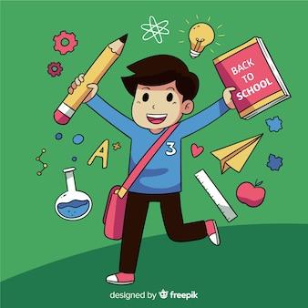 Back to school happy children character