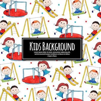 Back to school happy kids background