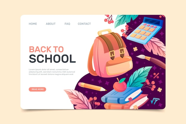 Back to school home page template