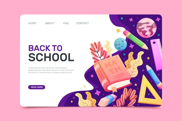 Back to school home page