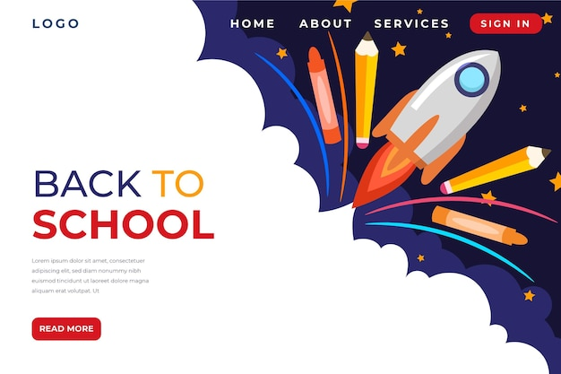 Back to school homepage style