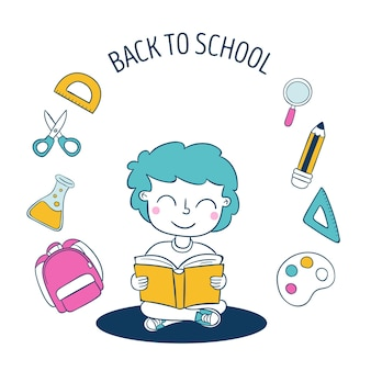 Back to school illustration design