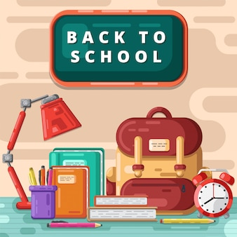 Back to school illustration free