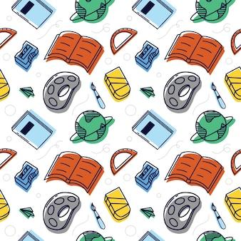 Back to school illustration pattern