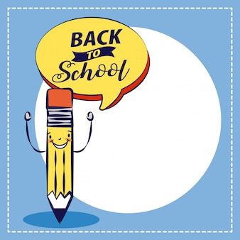 Back to school illustration pencil school elemnts illustration