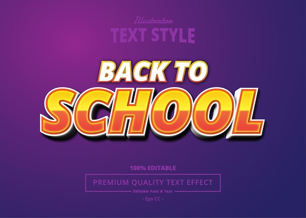 Back to school illustrator text effect