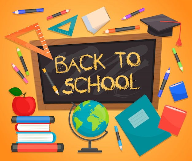 Back to school infographics concept