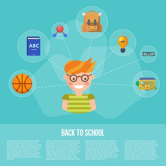 Back to school infographics