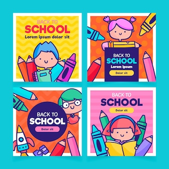 Back to school instagram posts design