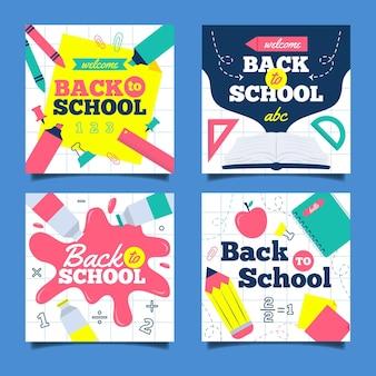 Back to school instagram posts template