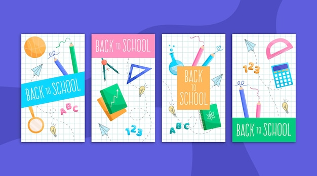 Back to school instagram stories collection