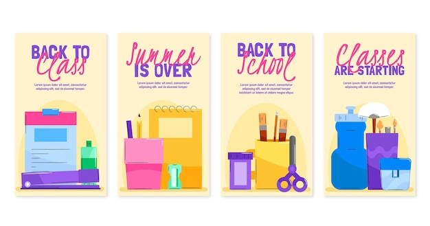 Ritorno a scuola raccolta di storie su instagram