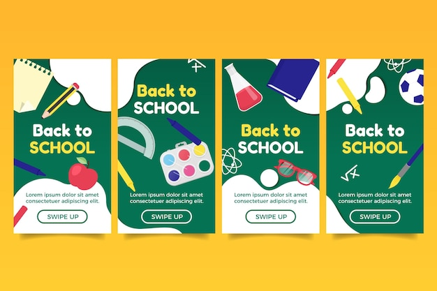 Back to school instagram stories pack