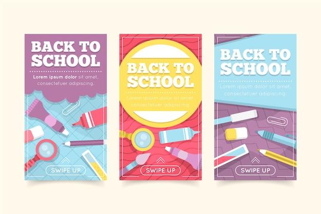 Back to school instagram stories set