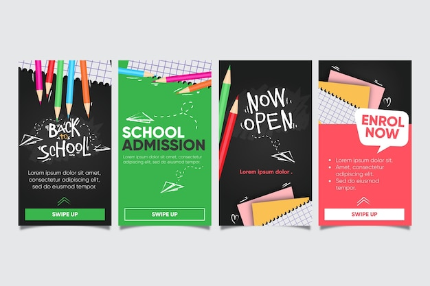 Back to school instagram story collection