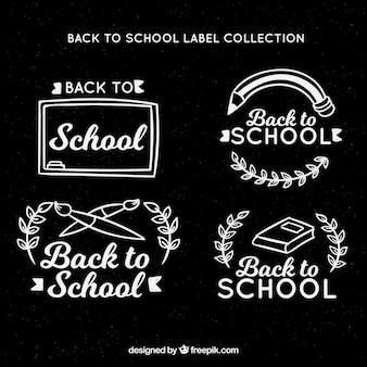 Torna alla collezione di etichette di scuola in stile lavagna