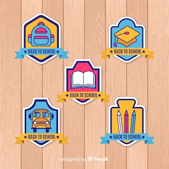 Back to school labels and badge collection