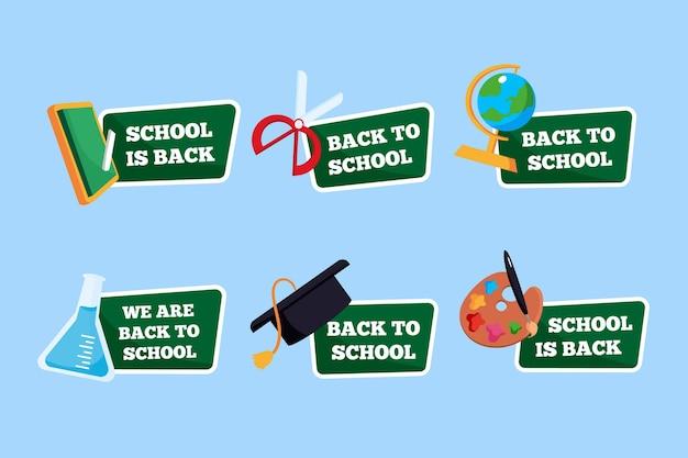 Torna alla collezione di etichette scolastiche Vettore gratuito
