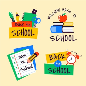 Back to school labels collection