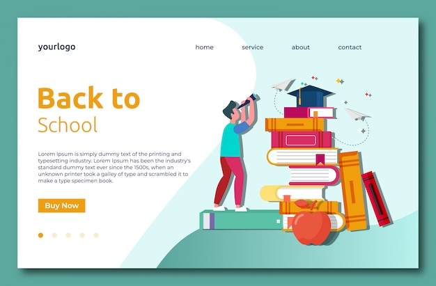 Back to school landig page