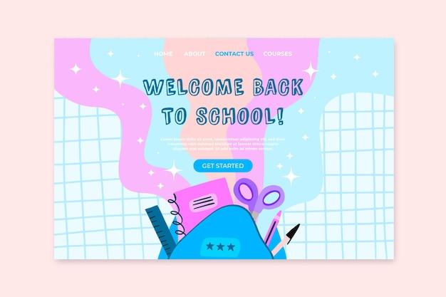 Torna al design della pagina di destinazione della scuola