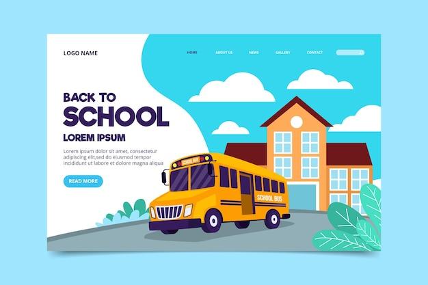 Torna al modello di pagina di destinazione della scuola