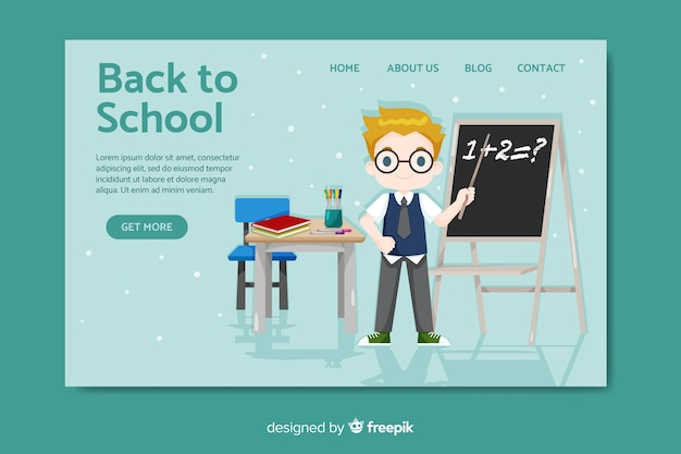 Back to school landing page