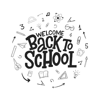 Back to school lettering.