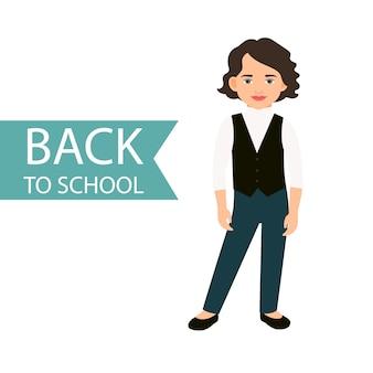 Back to school little girl