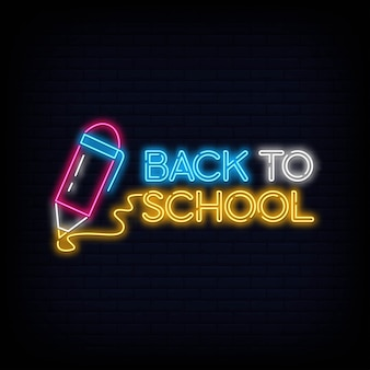 Back to school neon sign