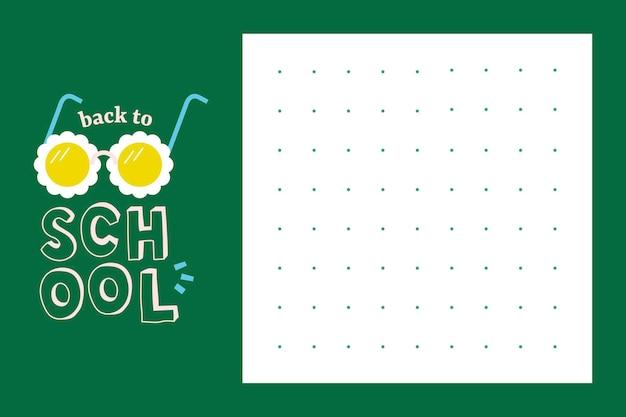 Modello di carta da lettere di ritorno a scuola