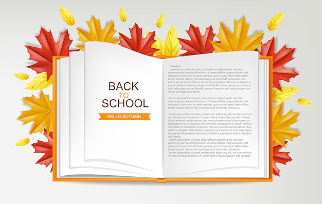 Back to school open book