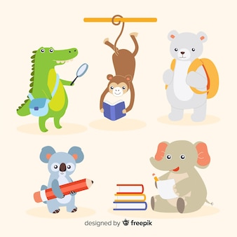 Back to school pack of animals