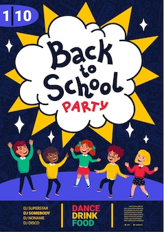 Back to school party poster