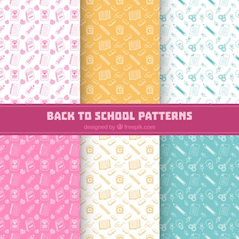 Back to school pattern collection of six